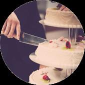 maistas vestuvems circle