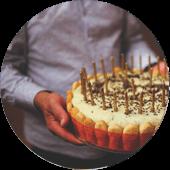 maistas gimtadieniams circle